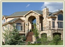 House with beautiful stone exterior