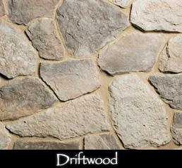 Fieldstone driftwood